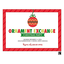 Ornament Gift Exchange Christmas Party Invitations 2017