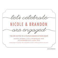 Engagement Champagne Party Invitations