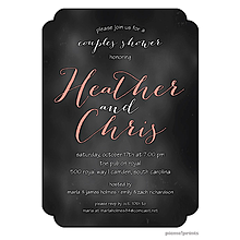 couples bridal shower invitations chalkboard