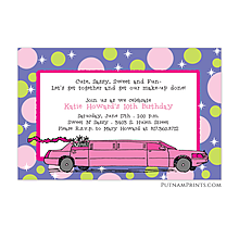 Limo party invitations new selections fall 2018 limo party invitations stopboris Image collections
