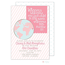girl adoption shower - Adoption Party Invitations