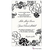Black and white party invitations new selections fall 2018 black and white peony garden party invitations stopboris Image collections