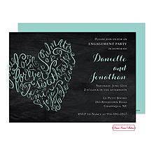 Engagement Script Heart Party Invitations