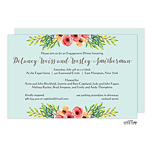 Flower Bundles Engagement Party Invitations