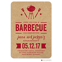 BBQ Bash Engagement Invitations