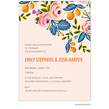 Rose of Spring Engagement Party Invitations