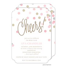 Cheers Confetti Engagement Invitations