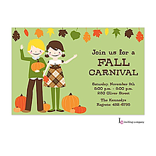 fall and autumn party invitations 2018