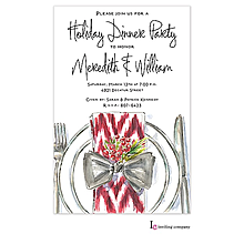 christmas engagement cheerful plate party invitations