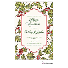 christmas engagement holly berry party invitations