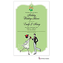 christmas engagement holiday couple party invitations