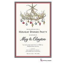 reindeer christmas cocktail party invitations