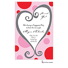 whimsy heart Valentine's Day party invitations