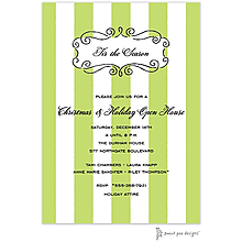 company Christmas party invitations curly green