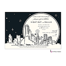Christmas Company Office Party Invitations dallas skyline