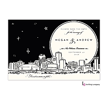 Christmas Company Office Party Invitations new orleans skyline