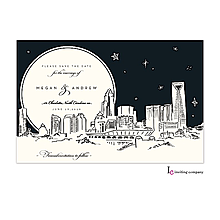 Christmas Company Office Party Invitations charlotte skyline