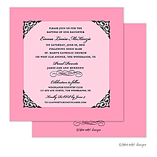 Valentine's Day party invitations framed pink
