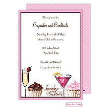 Valentine's Day party invitations cupcakes cocktails
