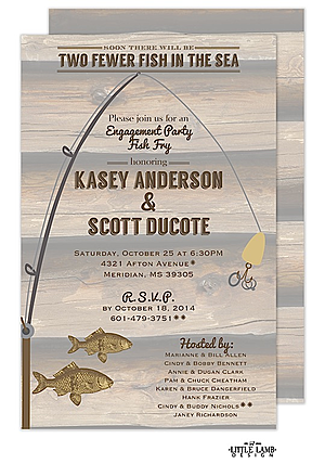 Fish in the Sea Engagement Party Invitations