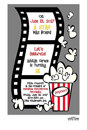 movie birthday party invitations - Movie Birthday Party Invitations