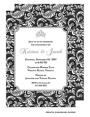 Black And White Party Invitations New Selections Winter 2019