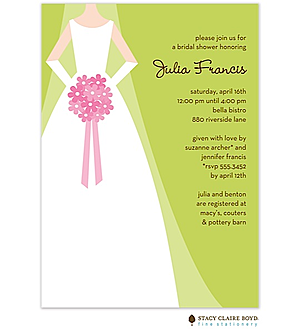 classic bridal shower party invitations bride to be