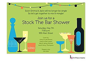 Stock The Bar Shower Party Invitations New Selections Spring 2019