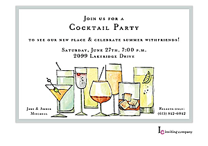 Stock the Bar Shower Party invitations NEW selections Summer 2018