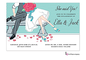 Park Bench Engagement Party Invitations