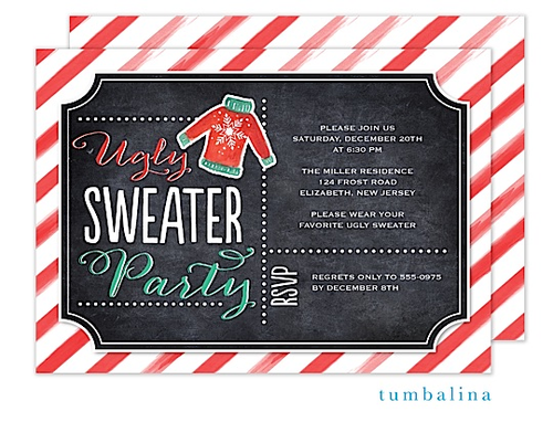 Ugly Christmas Sweater Party Invite.Ugly Sweater Christmas Party Invitations New For 2019