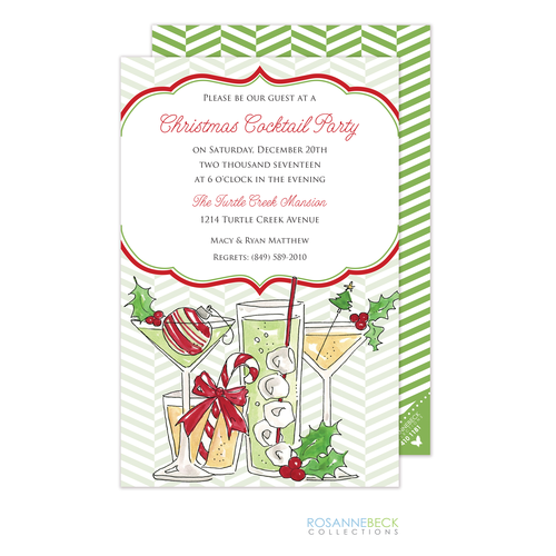 christmas cocktail party invitations - Christmas Cocktail Party Invitations